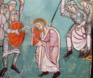 Moord op Bonifatius door de Friezen.