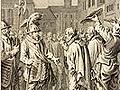 Strijd tegen de Vlamingen, 1304. Witte van Haamstede vertoont zich in Haarlem. Bron: Noord-Hollands archief.