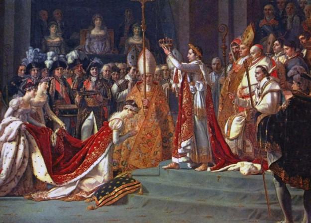Napoleon trouwt met Josephine, 9 maart 1796 (bron: Wikimedia Commons)