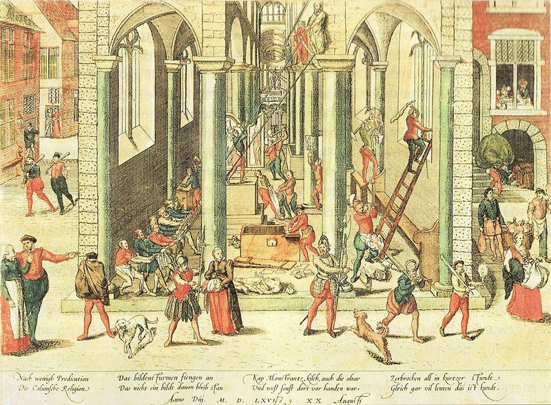 De beeldenstorm in de nederlanden histori n - Bron schilderijen ...