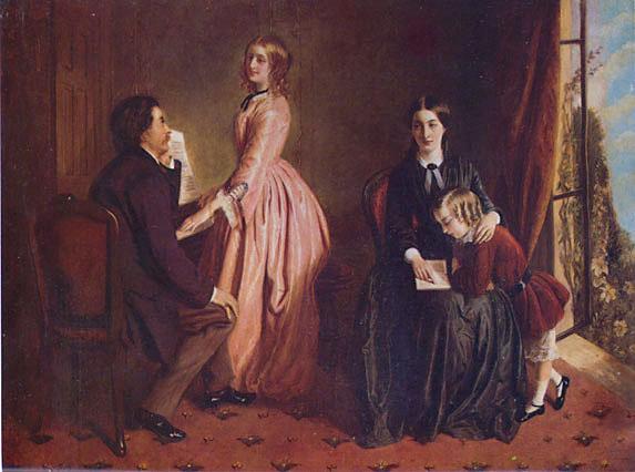 """Schilderij """"The Governess"""" van Rebecca Solomon uit 1851. Bron: wikipedia."""