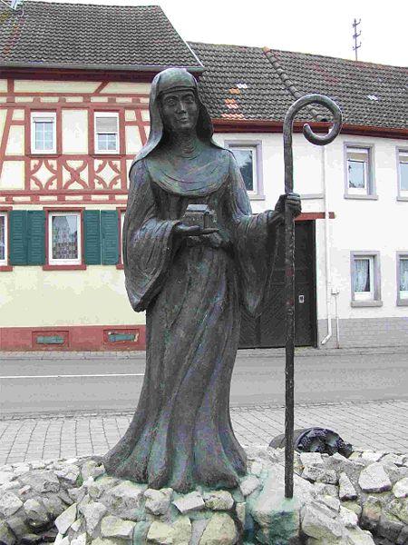 Leoba, standbeeld Schornsheim, Duitsland