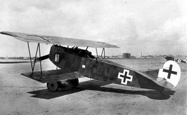 Fokker D7 1918. Bron: wikipedia.