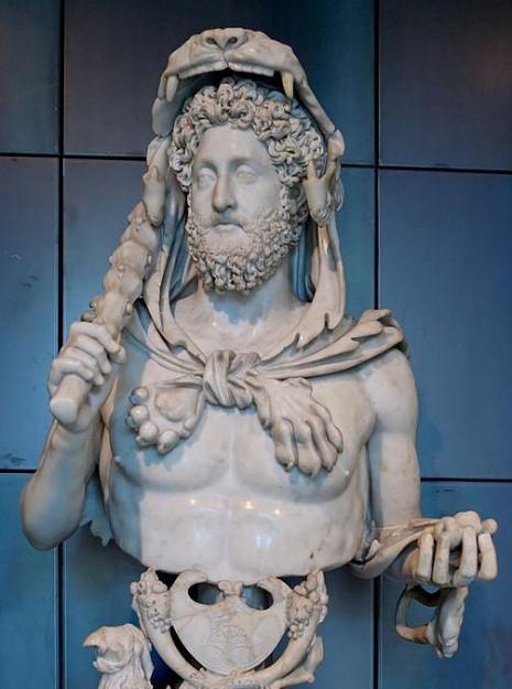 Linkshandigen geschiedenis: Commodus.