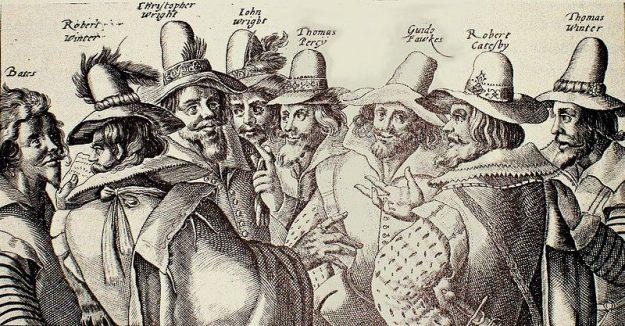 Guy Fawkes en de samenzweerders