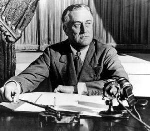 Franklin D. Roosevelt. Bron: wikicommons