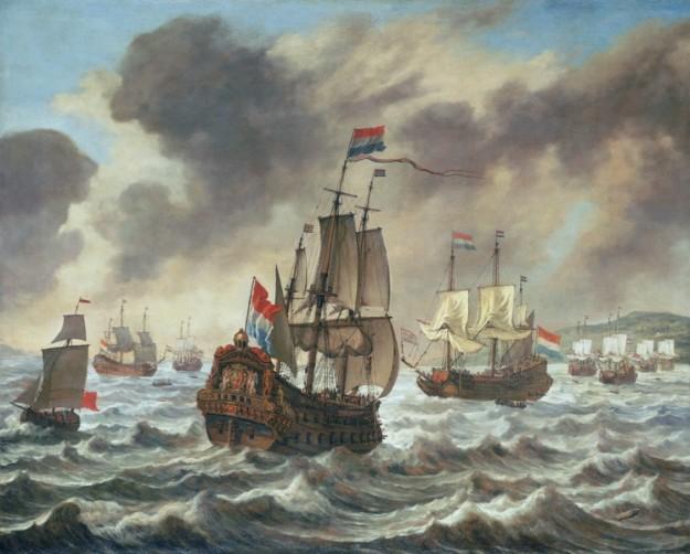 Zeeslag bij Duins (1639). bron: wikimedia