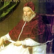 Paus Gregorius XIII (1502-1585)  (bron: wikimedia).