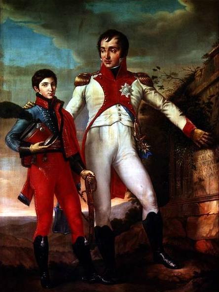 Lodewijk Napoleon Bonaparte  (1778-1846) en zijn zoon Lodewijk Napoleon(1804-1831).