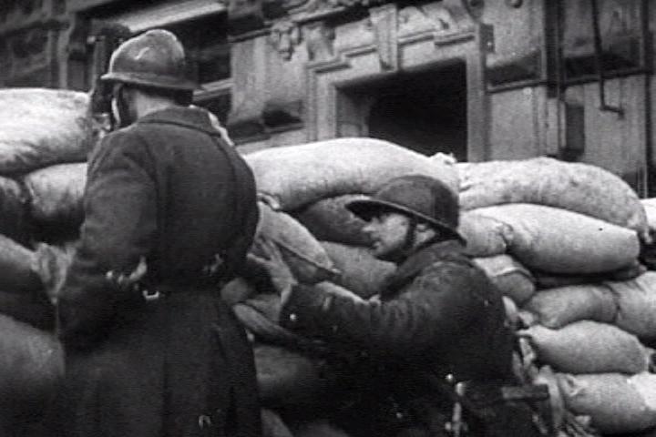 Franse troepen in Parijs, 1940