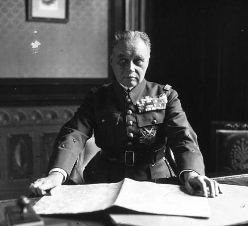 Maurice Gamelin, operbevelhebber van de Franse strijdkrachten tijdens de begindagen van de Tweede Wereldoorlog