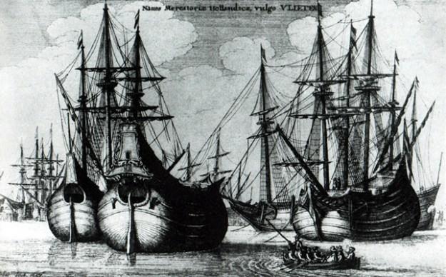 vrachtschip uit de 17e eeuw