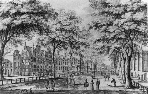 Het Lange Voorhout in 1689.
