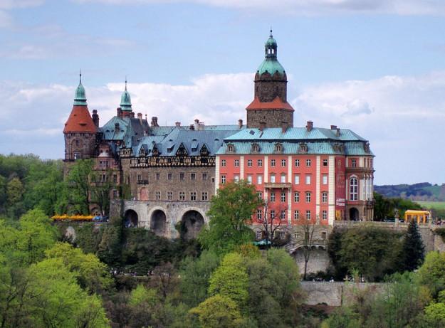 het kasteel Ksiaz. bron: wikimedia commons