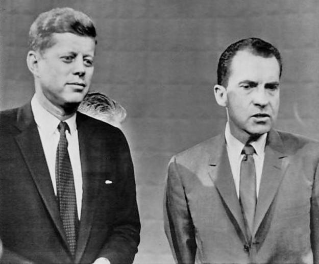De strijd om het presidentschap in 1960 betekende het einde van de vriendschap tussen Kennedy en Nixon (bron: Wikimedia)