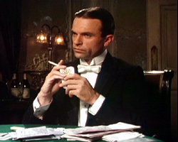 Sam Neill speelt Sidney Reilly in de miniserie 'Ace of Spies' in 1983, bekroond met een BAFTA-award .