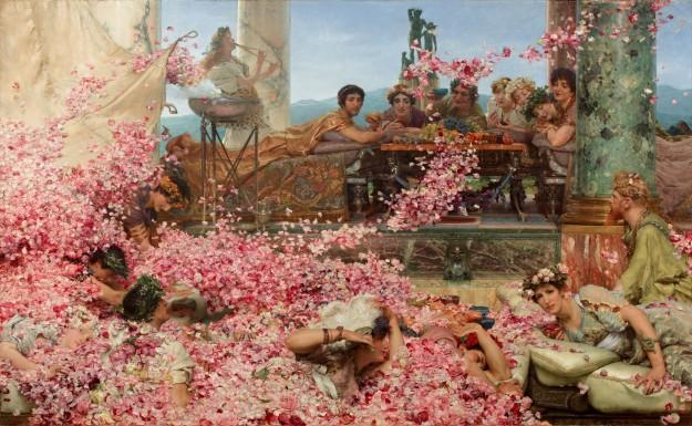 De rozen van Elagabalus, geschilderd door Lawrence Alma-Tadema, 1888 (bron: Wikimedia)
