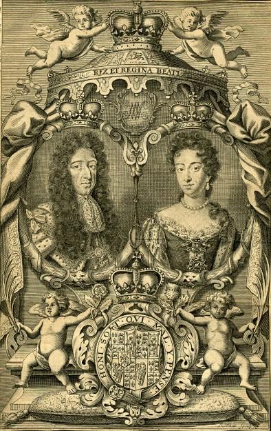 Willem III met zijn nicht Maria