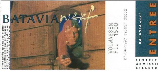 Bataviawerf toegangsbewijs, 1997