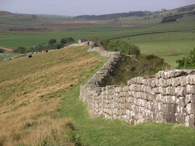 Muur van Hadrianus. Bron: en.wikipedia.org.
