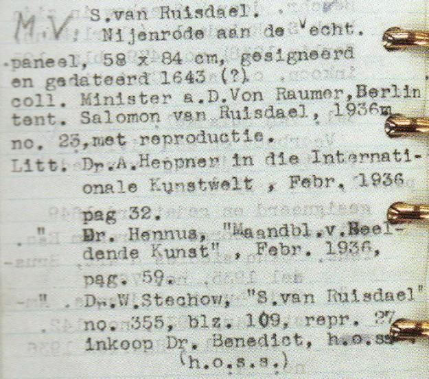 Bladzijde uit inventaris handelsvoorraad kunsthandel Goudstikker (bron: Wikimedia)