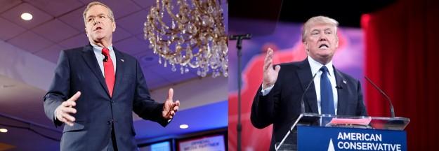 'Gedoodverfde favoriet' Jeb Bush legde het deze voorverkiezingen af tegen Trump, Rubio en Cruz (bron: Wikimedia)