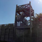Replica van een Romeinse wachttoren in Archeon (ES)
