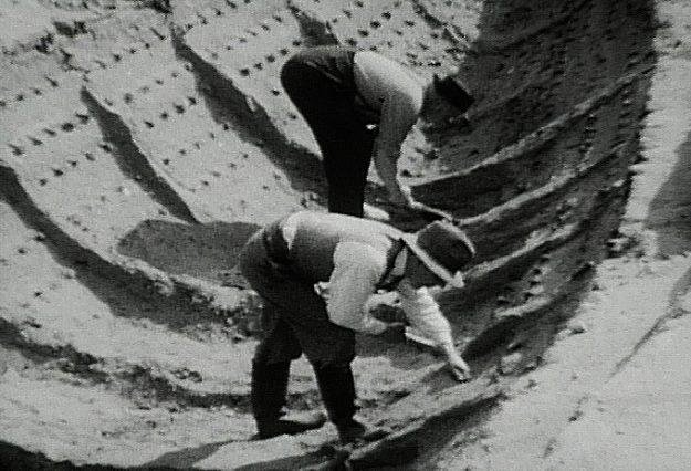 Het archeologisch onderzoek in Sutton Hoo legde een compleet schip bloot. Bron: wikimedia.org.