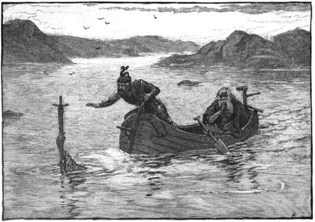zwaard van koning Arthur uit het meer