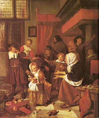 Sint-Nicolaasfeest van Jan Steen - HistoriënHistoriën
